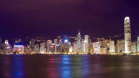 Opinión del puerto de Hong-Kong Imagen de archivo libre de regalías