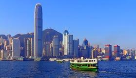 Opinión del puerto de Hong-Kong Imagenes de archivo