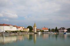 Opinión del puerto de Lindau Fotos de archivo libres de regalías
