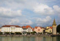 Opinión del puerto de Lindau Imagenes de archivo