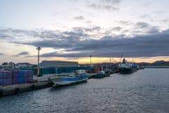 Opinión del puerto de Seongsan fotos de archivo libres de regalías