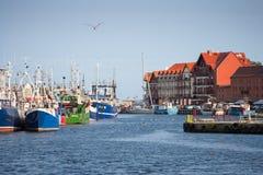 Opinión del puerto de Ustka Foto de archivo libre de regalías