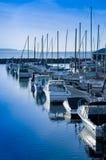 Opinión del puerto deportivo Imagen de archivo libre de regalías