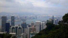 Opinión del puerto en Hong-Kong Fotos de archivo libres de regalías