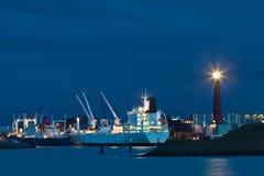 Opinión del puerto en los Países Bajos Foto de archivo libre de regalías