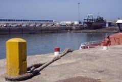 Opinión del puerto, Essaouira imagenes de archivo