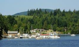 Opinión del puerto sobre la entrada de Sechelt Fotos de archivo