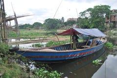 Opinión del punto de Basila del río de Buriganga, Dacca, Bangladesh Foto de archivo