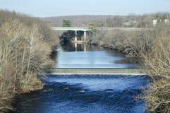 Opinión del río de Blackstone Foto de archivo libre de regalías