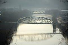 Opinión del río de la madrugada Fotos de archivo libres de regalías