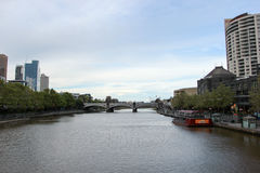 Opinión del río de Melbourne Foto de archivo