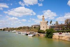 Opinión del río de Sevilla Imagenes de archivo