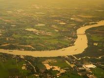 Opinión del río desde arriba Foto de archivo libre de regalías
