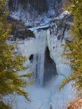 Opinión del rastro de las caídas de Taughannock en invierno Foto de archivo
