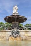 Opinión del retrato de la fuente en el La Rotonde en Aix-en-Provence Imagen de archivo
