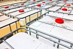 Opinión del rtop del containe de IBC Foto de archivo libre de regalías