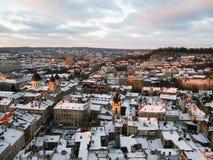 Opinión del s-ojo del ` del pájaro de Lviv Imagen de archivo