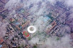 Opinión del ` s del pájaro de la ciudad de Shenzhen Imagen de archivo libre de regalías