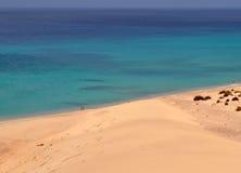 Opinión del siland de Fuerteventura Fotografía de archivo libre de regalías