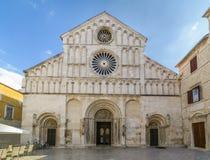Opinión del St Anastasia Front de la catedral fotografía de archivo