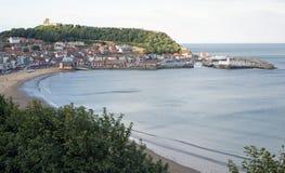 Opinión del sur de la bahía de Scarborough North Yorkshire fotos de archivo libres de regalías