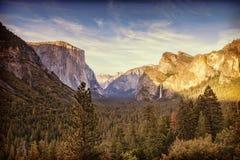 Opinión del túnel de Yosemite Fotografía de archivo libre de regalías