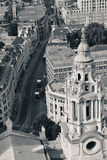 Opinión del tejado de Londres foto de archivo