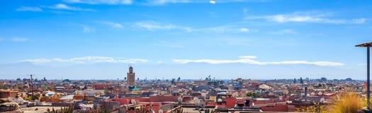 Opinión del tejado de Marrakesh Foto de archivo