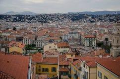 Opinión del tejado de Niza, Francia Foto de archivo libre de regalías