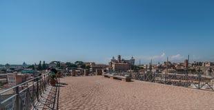 Opinión del tejado de Roma Fotografía de archivo