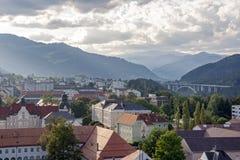 Opinión del tejado de una ciudad histórica imagen de archivo libre de regalías