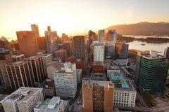 Opinión del tejado de Vancouver Imagen de archivo
