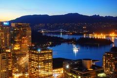 Opinión del tejado de Vancouver Fotos de archivo