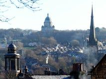 Opinión del tejado en toda la ciudad de Lancaster fotos de archivo libres de regalías