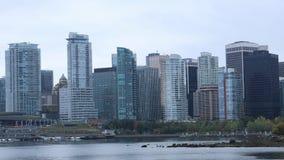 Opinión del timelapse del horizonte de Vancouver, Columbia Británica 4K metrajes