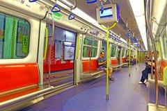 Opinión del tren del mtr de Hong-Kong Fotografía de archivo