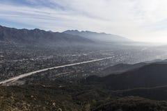 Opinión del valle de la cumbre de Los Ángeles California fotos de archivo libres de regalías