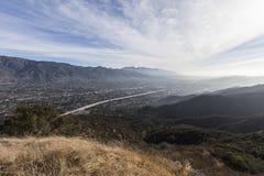Opinión del valle de la mañana del condado de Los Angeles California fotografía de archivo libre de regalías