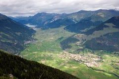 Opinión del valle de Matschertal Fotografía de archivo libre de regalías