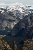 Opinión del valle de Yosemite de la punta de Dewey Imagen de archivo libre de regalías