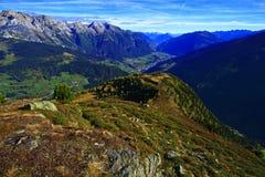 Opinión del valle del otoño Fotografía de archivo libre de regalías