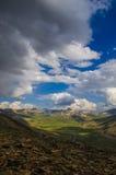 Opinión del valle del top de Babusar Fotos de archivo