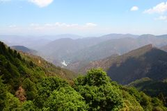 Opinión del valle en la India Fotografía de archivo