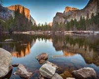 Opinión del valle en la puesta del sol Imagenes de archivo