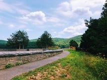 Opinión del verano de la presa de Saville foto de archivo