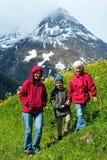Opinión del verano de las montañas de Silvretta, Austria Imagen de archivo libre de regalías
