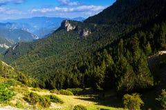Opinión del verano de montañas Imágenes de archivo libres de regalías