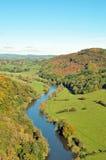 Opinión del verano de Symonds Yat en Herefordshire Foto de archivo libre de regalías