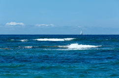 Opinión del verano del mar de la playa (Grecia, Lefkada, mar jónico) Imagen de archivo libre de regalías