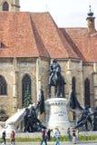 Opinión del verano en Union Square, Cluj-Napoca Fotografía de archivo libre de regalías